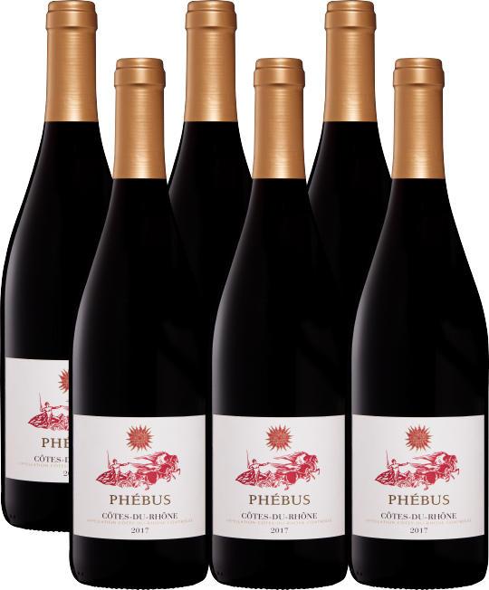 Phébus Côtes-du-Rhône AOC, 2018, Côtes du Rhône, Frankreich, 6 x 75 cl