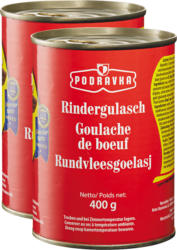 Podravka Rindsgulasch , 2 x 400 g
