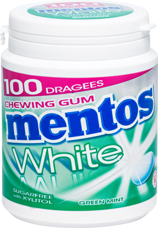 Mentos Chewing Gum, White Green Mint, 150 g