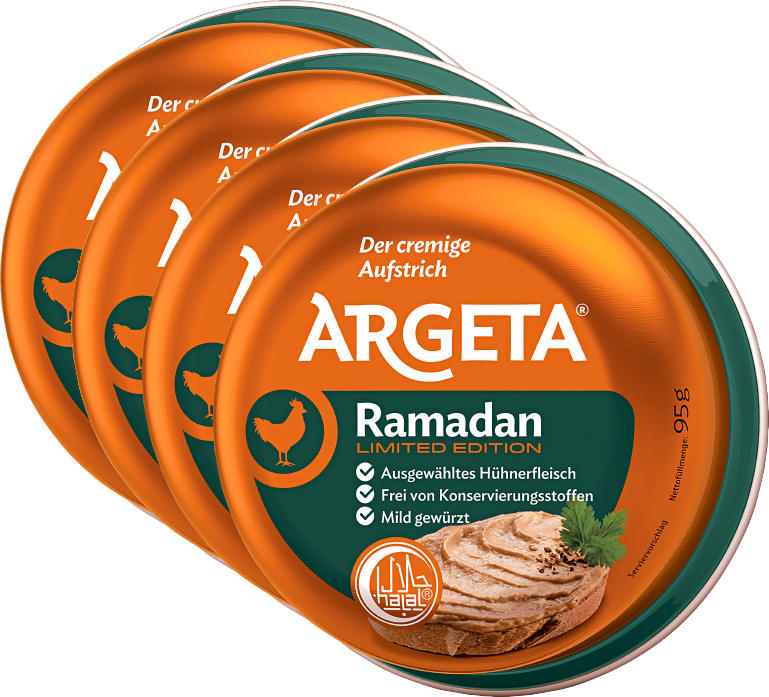Pâte à tartiner Argeta, Ramadan, 4 x 95 g