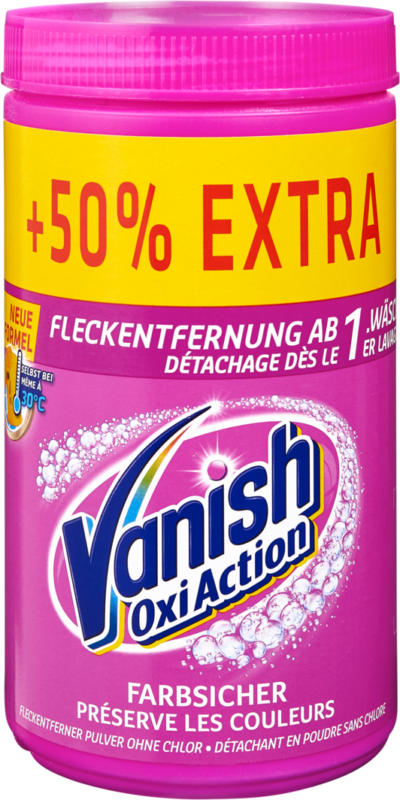 Vanish Oxi Action Multi Color , 900 g + 50%