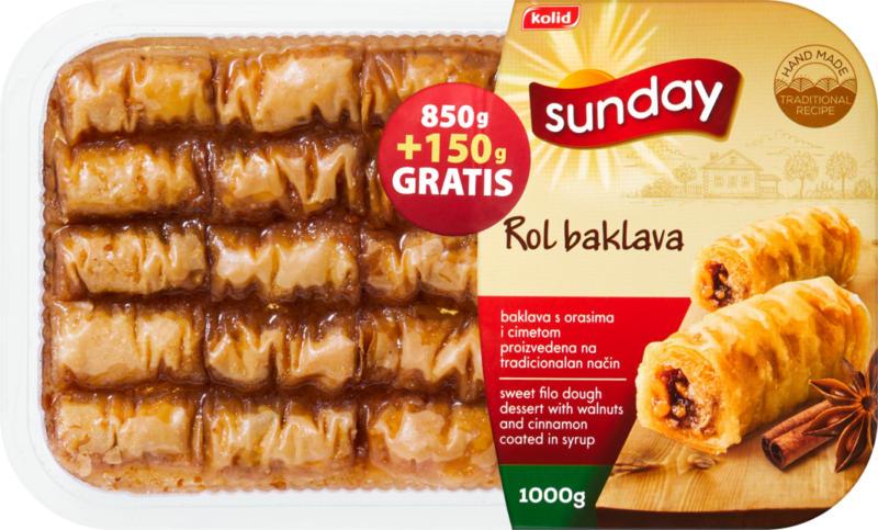 Sunday Baklava   , mit Zimt, gerollt, 1000 g