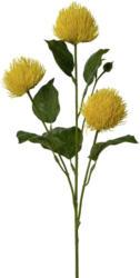 Kunstpflanze Centauriazweig in Gelb