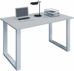 """Schreibtisch """"Lona"""", 80x50 cm, U-Fußgestell, grau/weiß"""