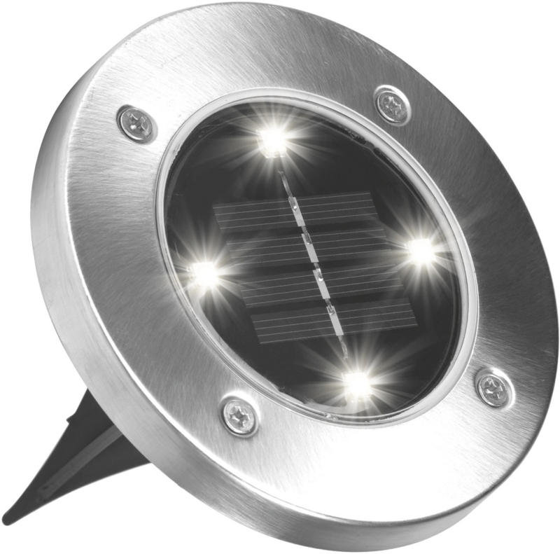 Set di 4 lampade solari DISK LIGHTS