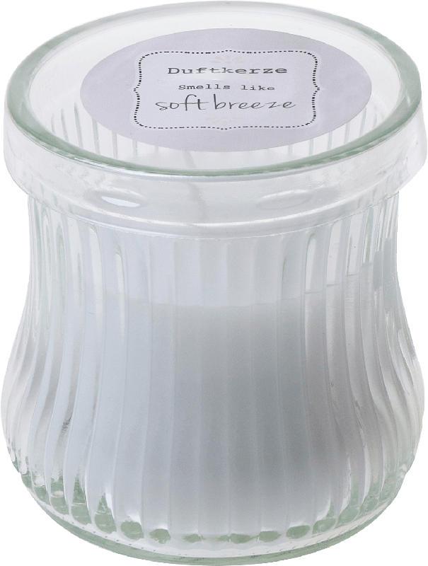 Dekorieren & Einrichten Duftkerze mit Glas weiß 'soft Breeze'