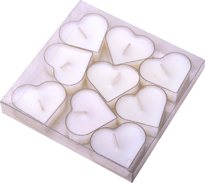 Dekorieren & Einrichten Teelichter Herzform in PC-Hülle weiß