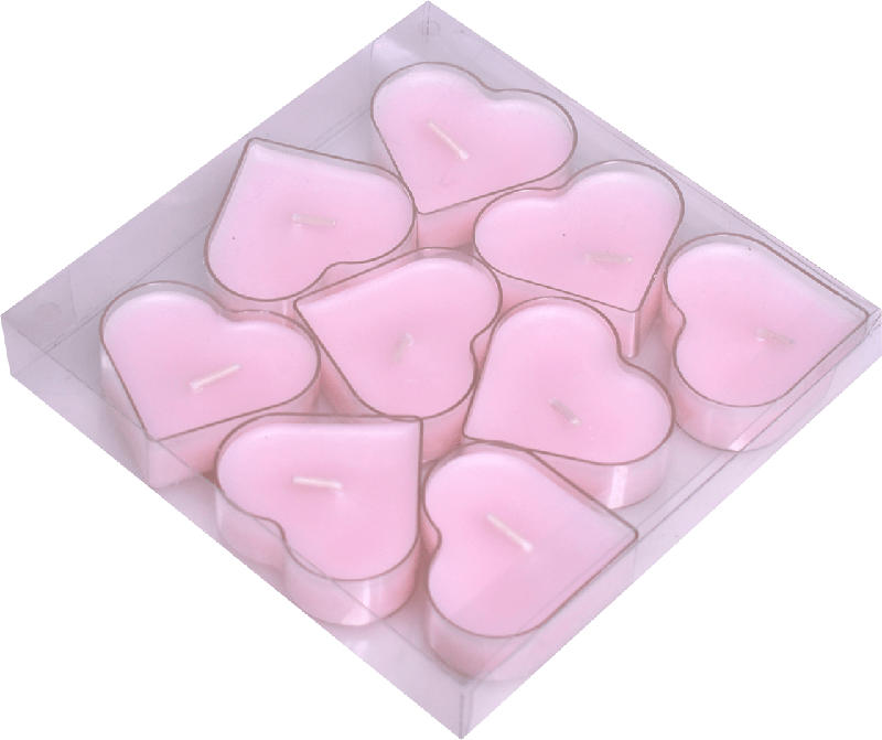 Dekorieren & Einrichten Teelichter Herzform in PC-Hülle rosa