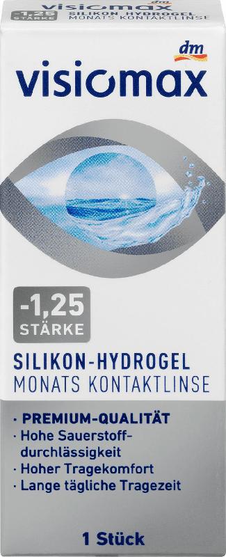 VISIOMAX Silikon-Hydrogel Monatslinse Dioptrie -1,25
