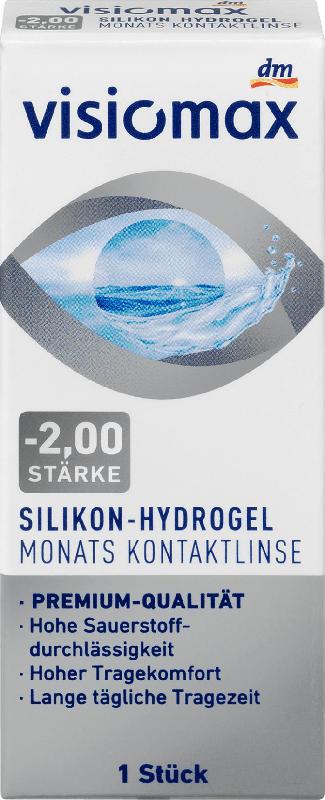 VISIOMAX Silikon-Hydrogel Monatslinse Dioptrie - 2,0