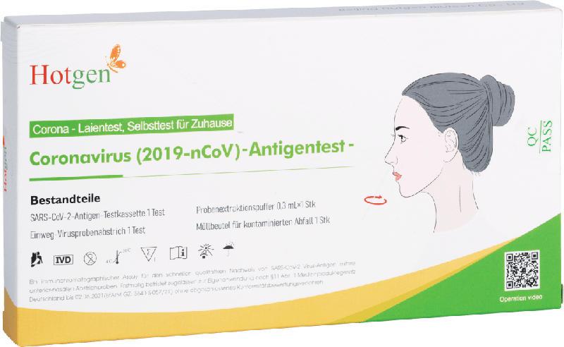 Hotgen Corona Schnelltest Selbsttest Coronavirus (2019-nCoV)-Antigentest