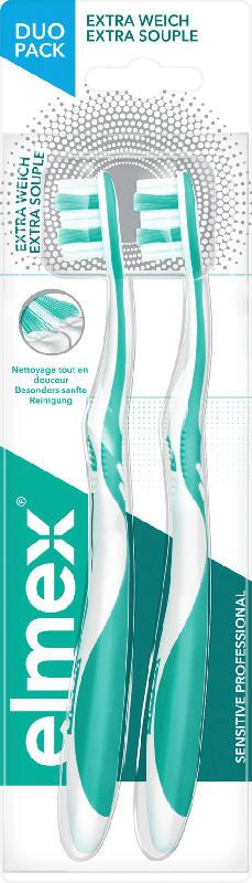 elmex Zahnbürste sensitive professional extra-weich, Doppelpack