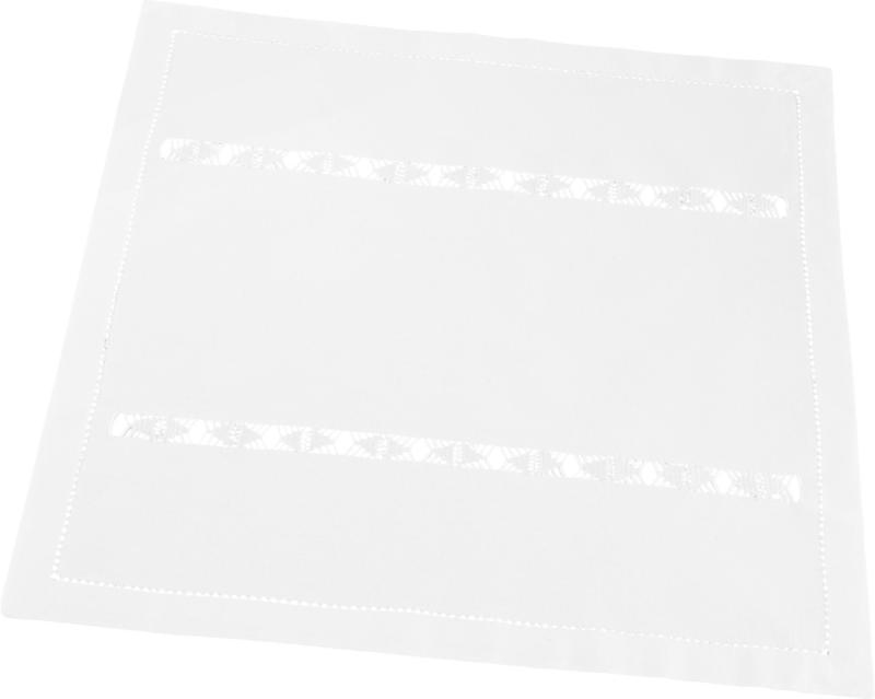 Tischset Mona in Weiß ca. 40x40cm