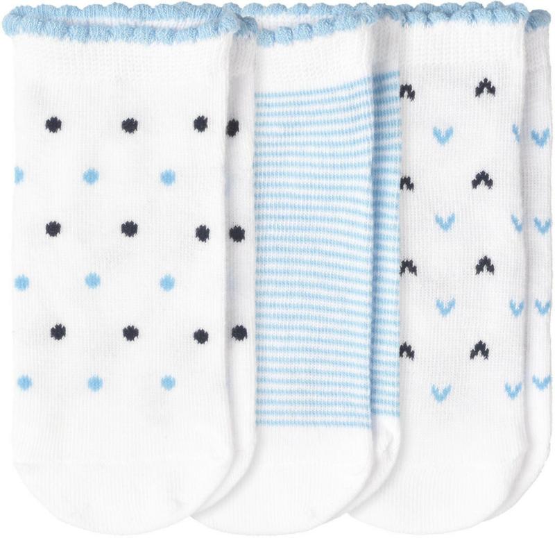 3 Paar Baby Sneaker-Socken im Set (Nur online)