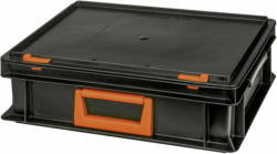"Systemkoffer ""Newbox PC 10"", stapelbar, 34x30x13,3cm, schwarz-orange"