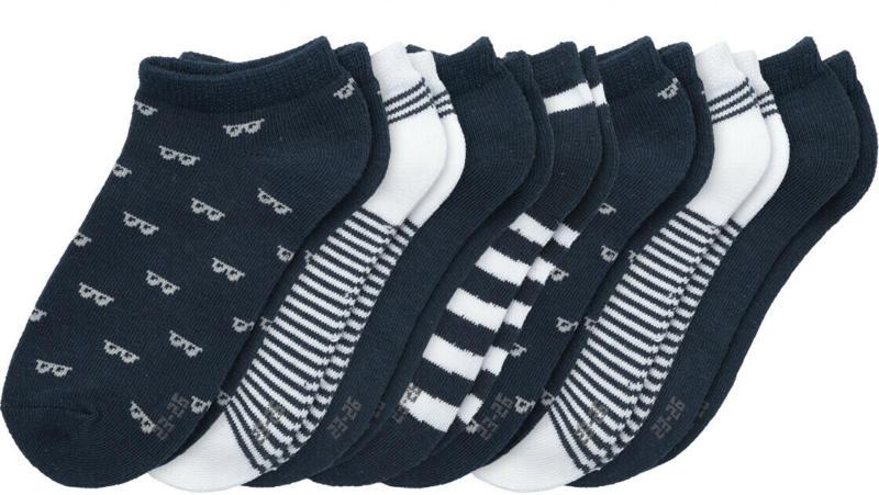 7 Paar Jungen Sneaker-Socken im Set (Nur online)