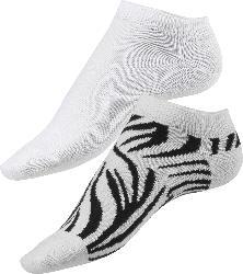 Fascino Doppelpack Sneaker Zebra-Muster, Gr. 35-38, weiß, schwarz