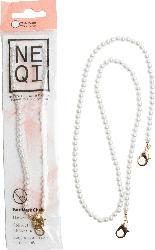 NEQI Maskenkette weiße Perlen