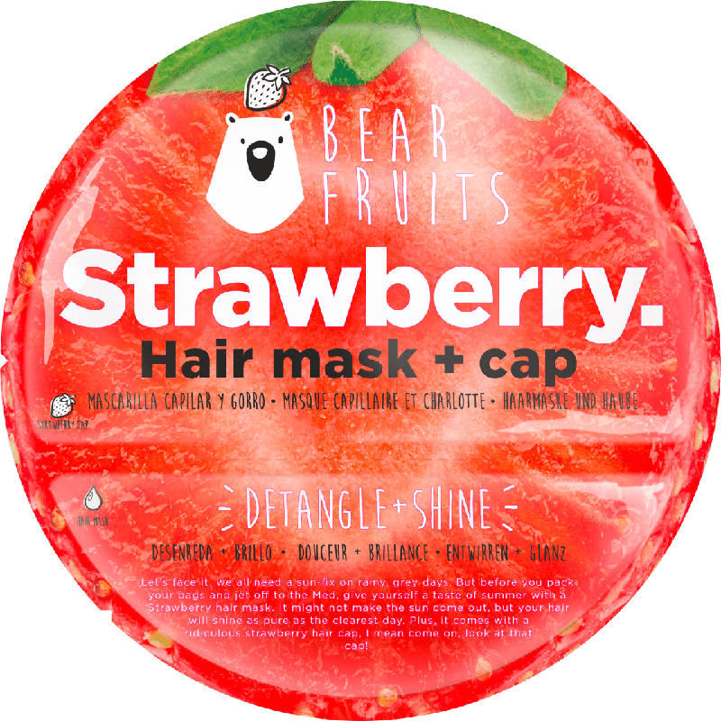 Bear Fruits Haarmaske Strawberry Hair mask + cap
