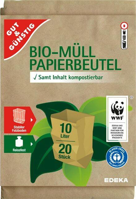 Gut & Günstig Bio-Müll-Papierbeutel