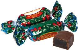 Gelee-Konfekt mit Berberitze-Geschmack in kakaohaltiger Fettglasur /lose