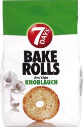 Knusprige Brot-Chips mit Knoblauchgeschmack