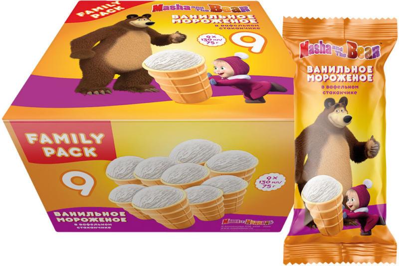 Eis mit Vanillegeschmack