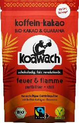 koawach Kakao Pulver, Feuer+Flamme Zartbitter Chili
