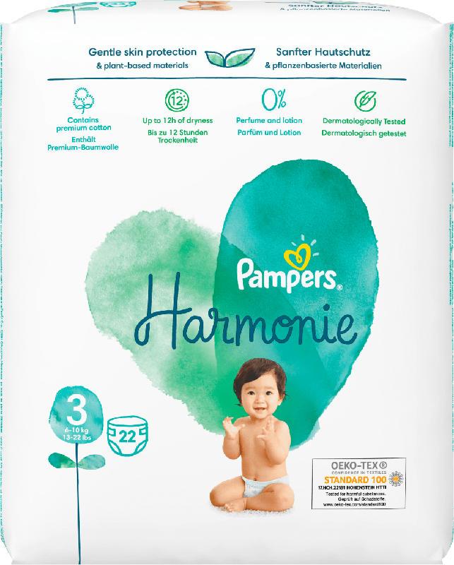 Pampers Windeln Harmonie, Gr.3 Midi, 6-10 kg
