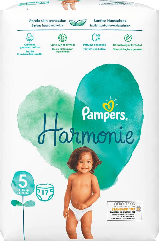 Pampers Windeln Harmonie, Gr.5 Junior, 11+ kg