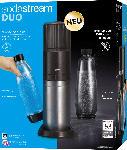 dm-drogerie markt Sodastream Wassersprudler Set DUO titan [1x Glasflasche 0,8L, 1x PET-Flasche 0,8L + Zylinder]