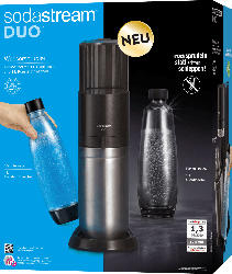 Sodastream Wassersprudler Set DUO titan [1x Glasflasche 0,8L, 1x PET-Flasche 0,8L + Zylinder]