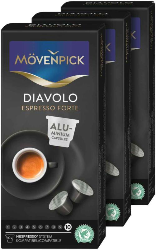 Mövenpick caffè Diavolo Espresso Forte 3 x 10 capsule -