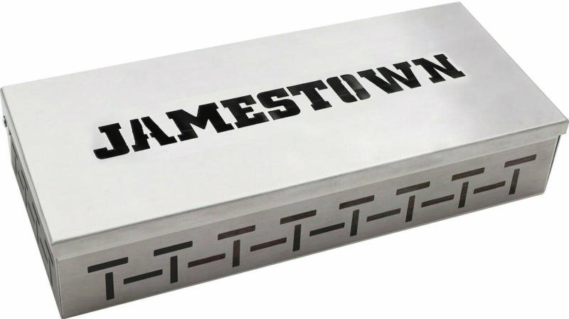 Jamestown Edelstahl Raucherbox 22,2 x 9,2 x 4,3 cm