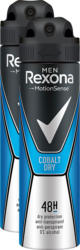 Rexona Deo Spray Aerosol, Men Cobalt Dry, 2 x 150 ml