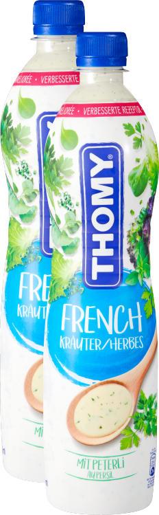 Thomy French Dressing, aux herbes, 2 x 700 ml