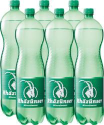 Acqua minerale Rhäzünser, gassata, 6 x 1,5 litri