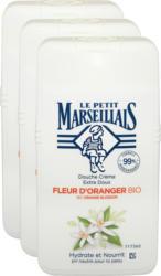 Crème douche Le Petit Marseillais , Fleur d'oranger bio, 3 x 250 ml
