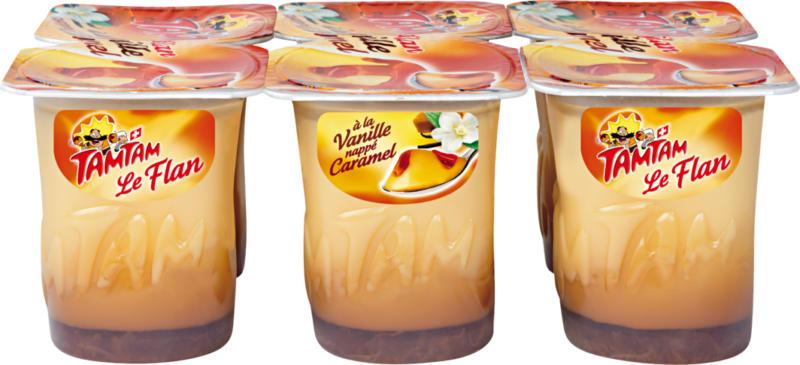 Flan Tam Tam, Vanille nappé caramel, 6 x 125 g