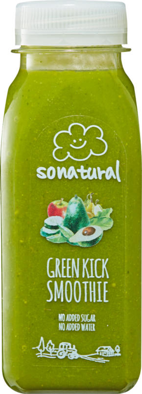 Sonatural Smoothie, Green Kick, 25 cl
