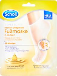 Masque de soin intensif pour pieds Expert Care Scholl, Masque nourissant avec 3 huiles précieuses, chaussettes, 1 paire