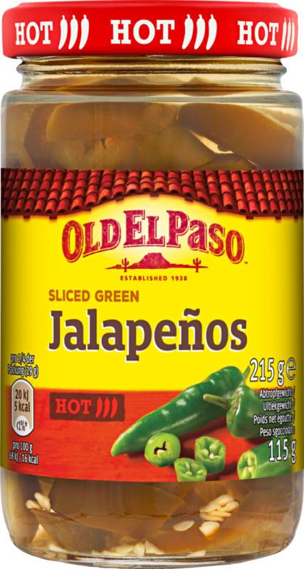 Old El Paso Sliced Jalapeños, in Scheiben, 115 g