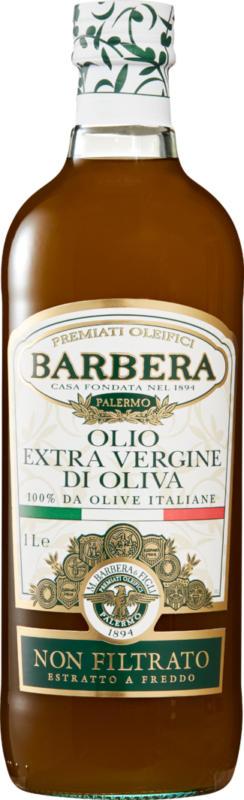 Olio d'oliva extra vergine Barbera, Non filtrato, 1 litro