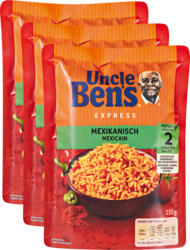 Riz Express Uncle Ben's, Mexicain, 3 x 250 g
