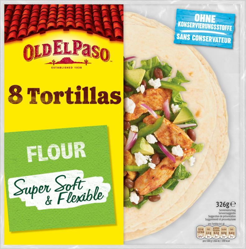Tortillas di grano Old El Paso, Super Soft, 326 g
