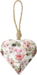 Kleiner Herz-Anhänger mit floralem Muster (Nur online)