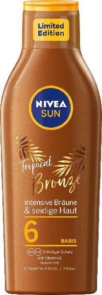 NIVEA SUN Sonnenmilch tropical bronze LSF 6
