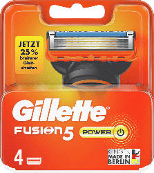Gillette Fusion5 Power Ersatzklingen 4er