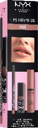 NYX PROFESSIONAL MAKEUP Lips-Set Never Lie Nude