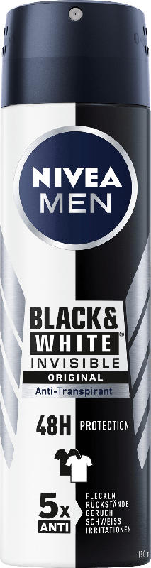 NIVEA MEN Deo Spray Antitranspirant Black&White Power
